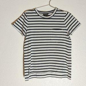 Banana Republic Black and White Striped T Shirt